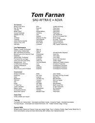 Resume Tom Farnan