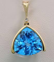 blue topaz diamond pendant 11 82 carat in total luminous blue swiss