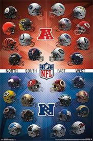 Nfl Helmet Safety Chart Nfl Helmet Logos Poster Amazing Collage Rare Hot New 22x34