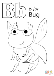 Letter B Is For Bug Coloring Page Free Printable Coloring Pages