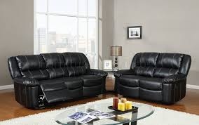 black leather based black leather sofa office