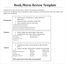 book writing templates sample example format movie book writing review example