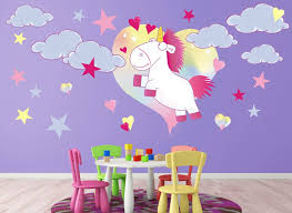 fluffy the unicorn wall decals set 1