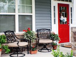 the porch furniture. image of back porch furniture decorating the