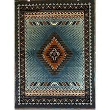 native american area rugs com south west rug blue brown