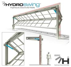 all hydro and half the swing hydroswing launches a new dual panel hydraulic door