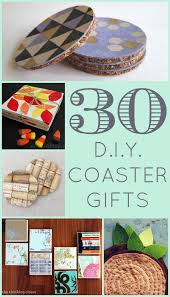 30 diy coaster gifts a round up of coaster gift ideas galore brought