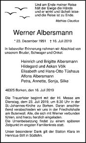 Start Traueranzeigen Todesanzeigen Borkener Zeitung Trauer