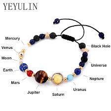 New <b>Fashion Solar System</b> Universe Galaxy Eight Planets Bracelet ...