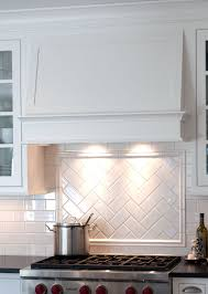 Kitchen Patterns And Designs Gorgeous Simple Hood And Herringbone Pattern Title Backsplash