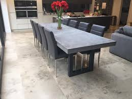 polished concrete furniture. 3 metre polished concrete dining table furniture l