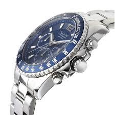 accurist men s quartz watch blue dial chronograph display and accurist men s quartz watch blue dial chronograph display and silver stainless steel bracelet mb936nn babar amazon co uk watches