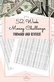 52 Week Money Chart 52 Week Money Challenge Forward And Reverse
