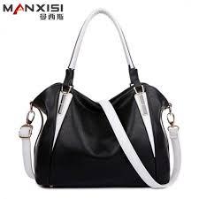 manxisi brand women leather handbags black fashion shoulder bag messenger bag famous brands designer handbags high quality women leather handbags