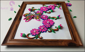 Paper Quilling Flower Frames Learn To Quill Unique And Beautiful Quilled Flower Frame For Home
