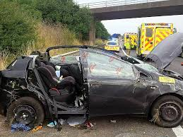 car seat saves baby after crash on m40