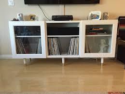 ikea besta record and media console
