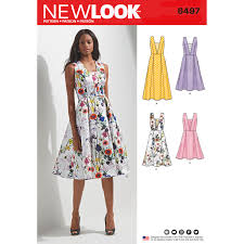 New Look Patterns Fascinating New Look Pattern 48 Misses' Dress With Bodice And Length Variations