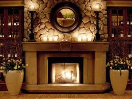 image of mantel ideas with light