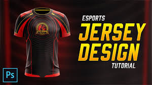 How To Make Sublimation Jersey Design Esports Jersey Design Tutorial In Photoshop Cc 2018