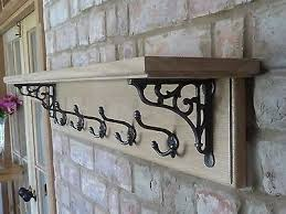 Cottage Coat Rack Classy Vintage Style Coat Rack With Shelf Solid Oak Country Cottage Diy