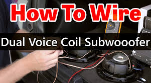 dual voice coil subwoofer wiring dual 2 ohm coils