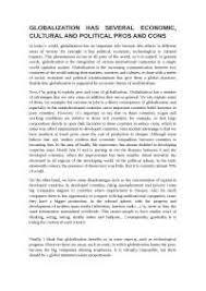 essay globalization inglese livello b bicocca docsity essay globalization inglese livello b2 bicocca