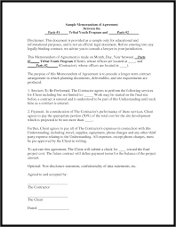 10 best images of memorandum agreement template example sample it
