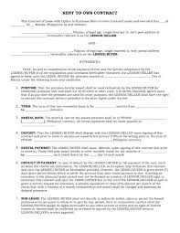 House Contract Form Rent To Own House Contract Forms 3438