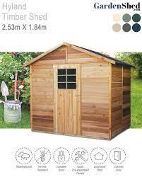 hyland timber shed 2 53m x 1 84m cedar