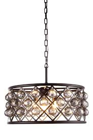 elegant lighting madison 1214 madison collection chandelier d 20in h 9in lt 5 matte black finish royal cut crystals lighting etc