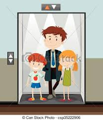 people in elevator clipart. people using elevator going up - csp35222906 in clipart
