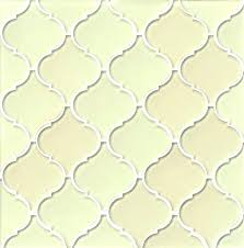 arabesque glass tile tiles lantern sand beige style mosaic glossy wall white arabesque glass tile