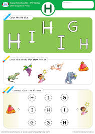 Select the topic to view and print available worksheets. Letter Recognition Phonics Worksheet H Uppercase Super Simple