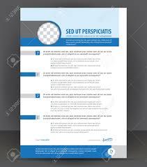 Vector Resume Print Design Template Cv Blank Example Blue Gray