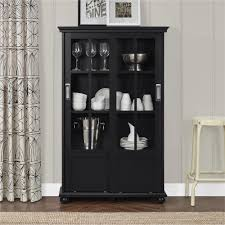 ameriwood home aaron lane bookcase with sliding glass doors multiple colors com