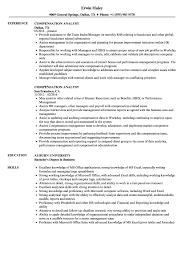 Compensation Analyst Resume Samples Velvet Jobs