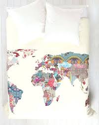 deny duvet covers cover your bed with the map of the abstract world deny designs duvet
