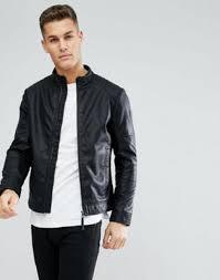 tom tailor faux leather biker jacket