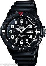 mens diving watches casio mens mrw200h 1bv black resin band dive watch sport analog rotatable bezel