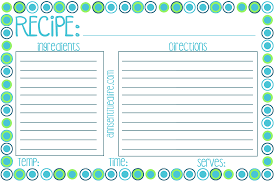 Recipe Cards Print Free Printable Recipe Card Meal Planner And Kitchen Labels