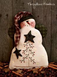 Primitive Snowman Patterns