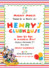 Free Mickey Mouse Template Download Mickey Mouse Clubhouse Party Invitations Free Template