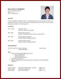 Resume For College Students With No Experience New Resume Template