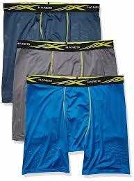 way stretch mesh long leg boxer brief