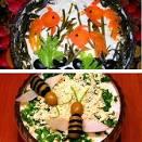 Украшение стола оригинальными блюдами