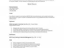 Waitress Resume Skills Resume Technical Skills Summary Frizzigame