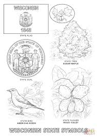 Small Picture Wisconsin State Symbols coloring page Free Printable Coloring Pages