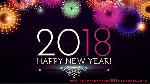 background hd december happy new year 2018