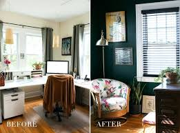 shared office space ideas. Office Space Decor Home Before After Hunter Green Ideas Emerald Teal Shared